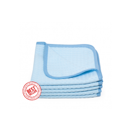 Premium korean microfiber waffle  weave towel - light blue the rag company