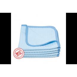 Premium korean microfiber waffle  weave towel - light blue the rag company