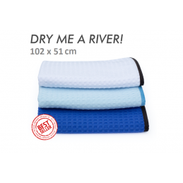 """Dry me a river"" waffle weave towel 51x102cm the rag company"